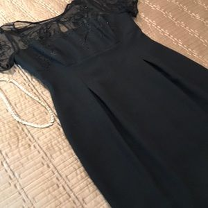 Laggy London dress, black with top netting, size 6